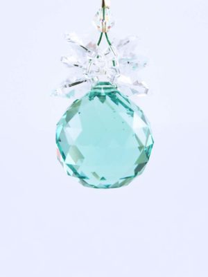 Swarovski-Antique-Green-Ball-Suncatcher-20mm-with-Crystal-Hearts-2