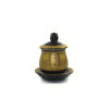 Black and Gold Great Compassion Mantra Offering Cup with Lid (Small)1