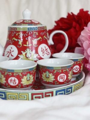 Blissful Marriage Red Tea Set 2