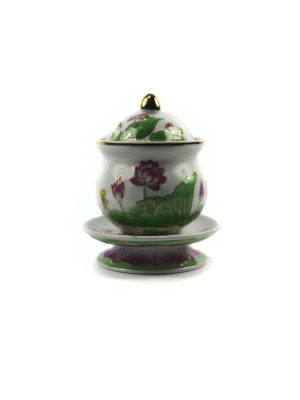 Coloured Lotus Offering Cup with Lid (Medium) 1