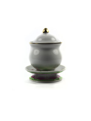 Coloured Lotus Offering Cup with Lid (Medium) 2