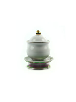 Coloured Lotus Offering Cup with Lid (Small) 2