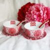 Double Happiness Red Paper Cutting Rounded Bowl Set 1
