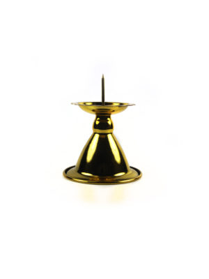 Gold Candle Holder with Needle 1