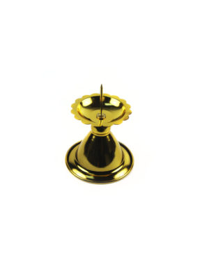 Gold Candle Holder with Needle 2