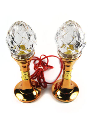 Plastic Clear Crystal Lotus Bud Lamp 2