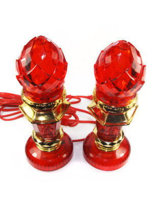 Plastic Red Crystal Lotus Bud Lamp 2