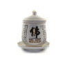 White Heart Sutra Offering Cup with Lid 1