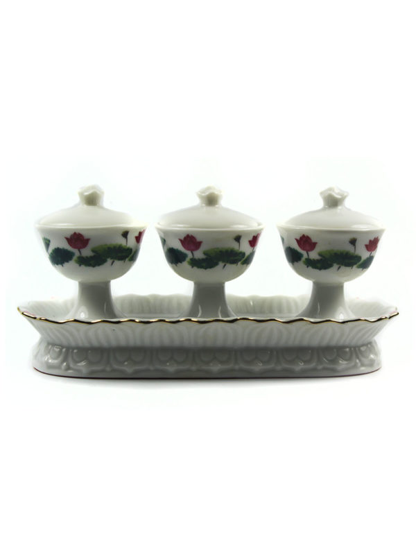 White Lotus Three Offering Cup Set 2