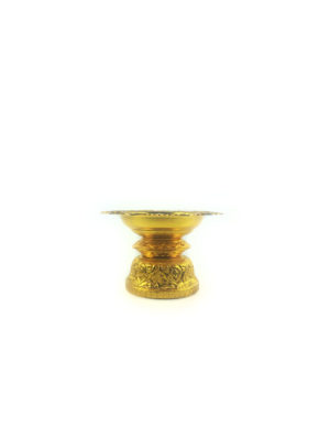 Gold Aluminum Offering Plate (14cm) 1