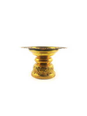 Gold Aluminum Offering Plate (18.5cm) 1