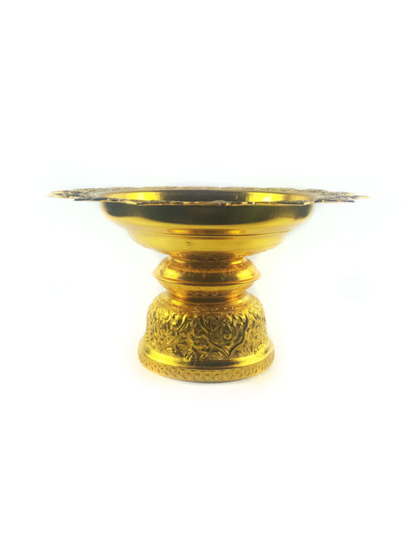 Gold Aluminum Offering Plate (26cm) 1