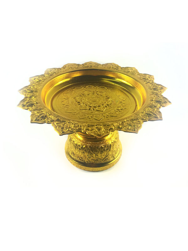 Gold Aluminum Offering Plate (26cm) 2