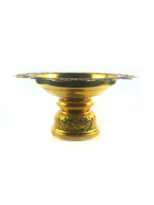 Gold Aluminum Offering Plate (28cm) 1