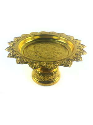 Gold Aluminum Offering Plate (28cm) 2