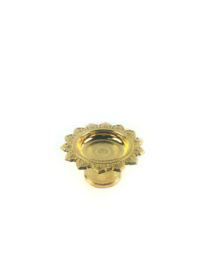 Gold Plastic Offering Plate (12cm) 2
