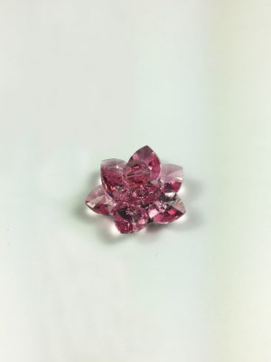 Handmade Swarovski Crystal Lotus (2.8cm) in Rose 2
