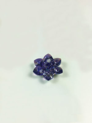 Handmade Swarovski Crystal Lotus (2.8cm) in Tanzanite AB 2