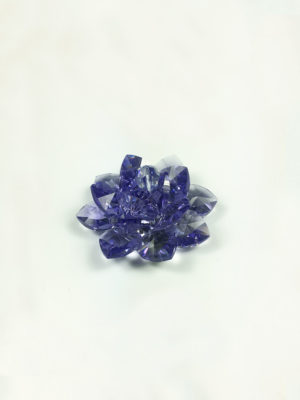 Handmade Swarovski Crystal Lotus (5cm) in Tanzanite 2