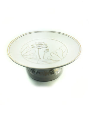 Lotus Porcelain Offering Plate 2