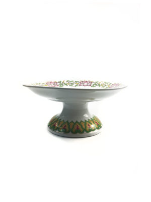 Pink Lotus Porcelain Offering Plate 1