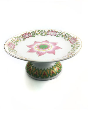 Pink Lotus Porcelain Offering Plate 2