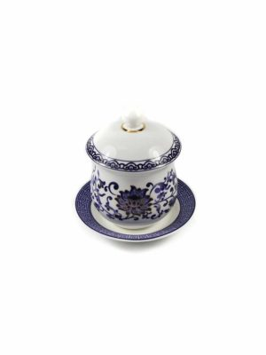 Blue Lotus Offering Cup with Lid 2