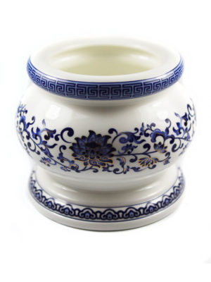 Blue Lotus Porcelain Incense Burner 2