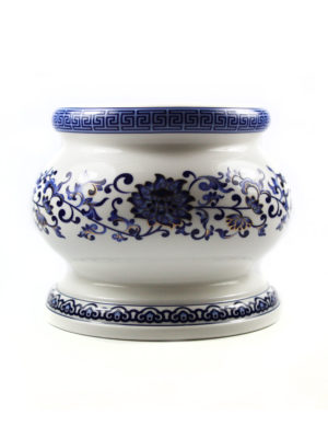Blue Lotus Porcelain Incense Burner (Medium) 1