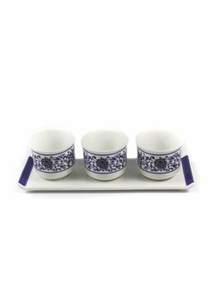 Blue Lotus Three Offering Cup Set 2