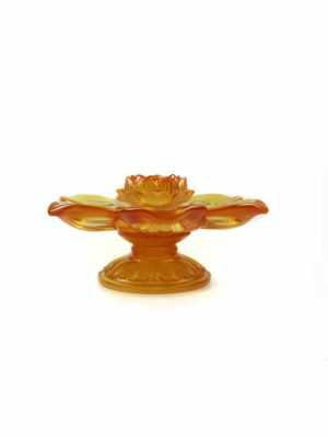 Colour Glazed Glass Lotus Seven Candle Holder 1