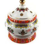 Eight Auspicious Symbols Porcelain Incense Burner with Lid 2