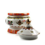 Eight Auspicious Symbols Porcelain Incense Burner with Lid 5