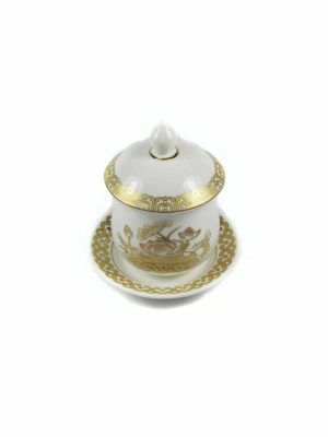 Gold Lotus Offering Cup with Lid 2