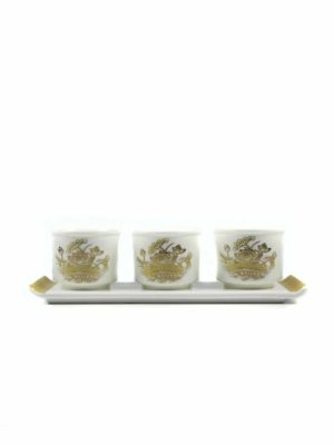 Gold Lotus Three Offering Cup Set 1