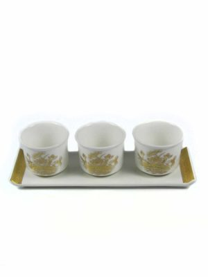 Gold Lotus Three Offering Cup Set 2