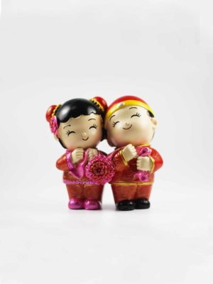 Chinese Wedding Dolls (Holding Ribbon) 1