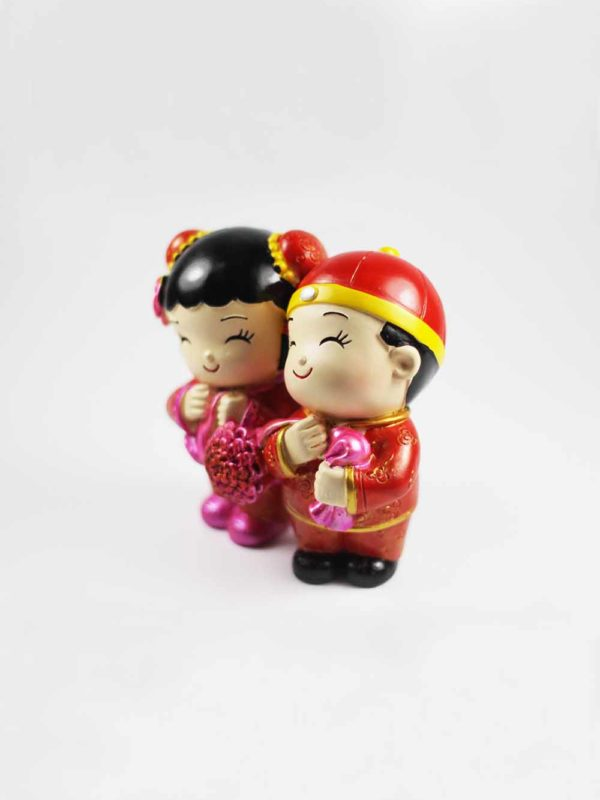 Chinese Wedding Dolls (Holding Ribbon) 2