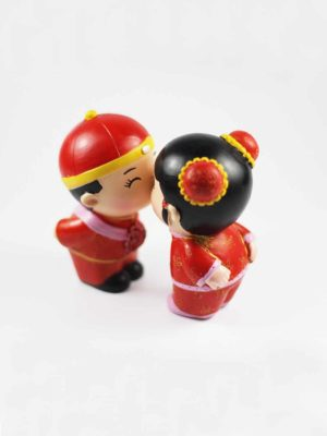 Chinese Wedding Dolls (Kissing) 2
