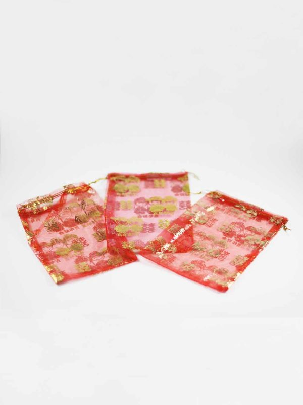 Chinese Wedding Red Pouches (Big) 1