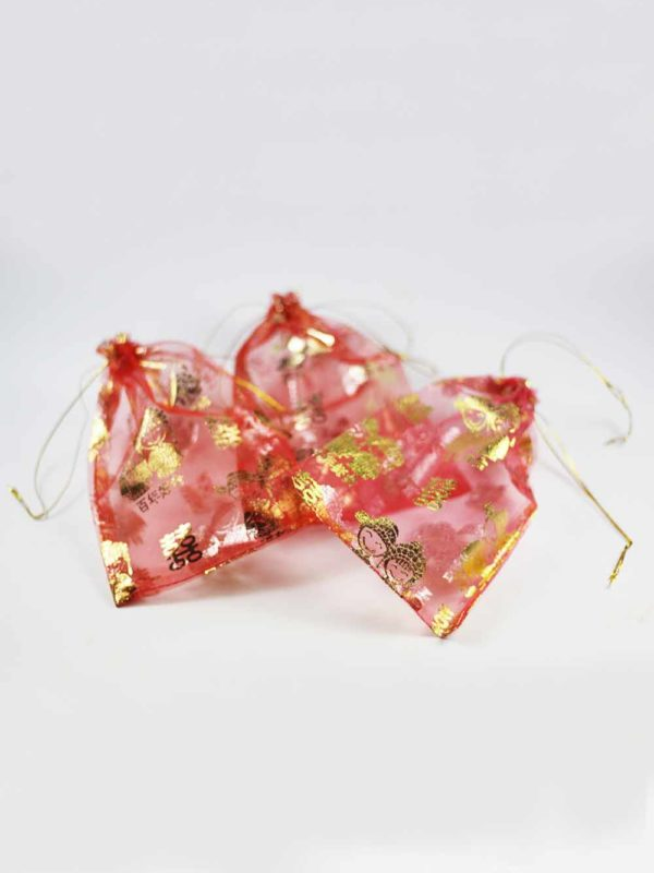 Chinese Wedding Red Pouches (Big) 3