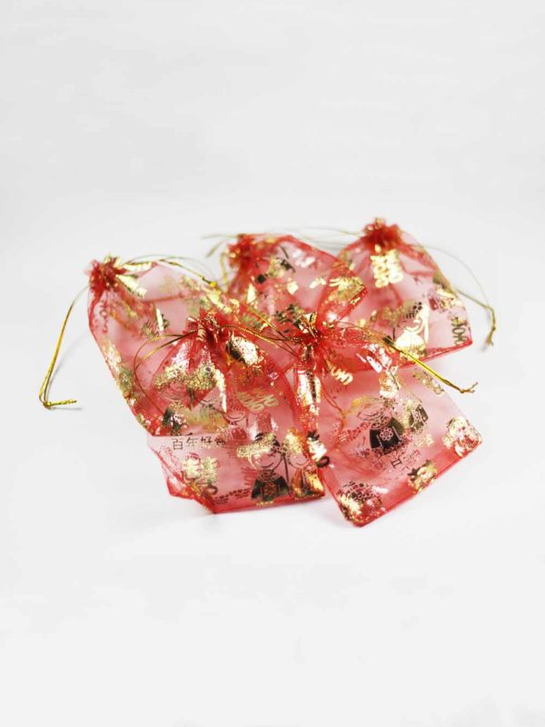 Chinese Wedding Red Pouches (Small) 3