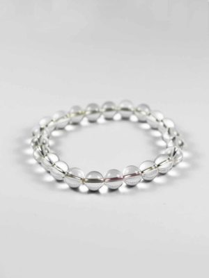 Clear Crystal Quartz Bracelet (8mm) 2