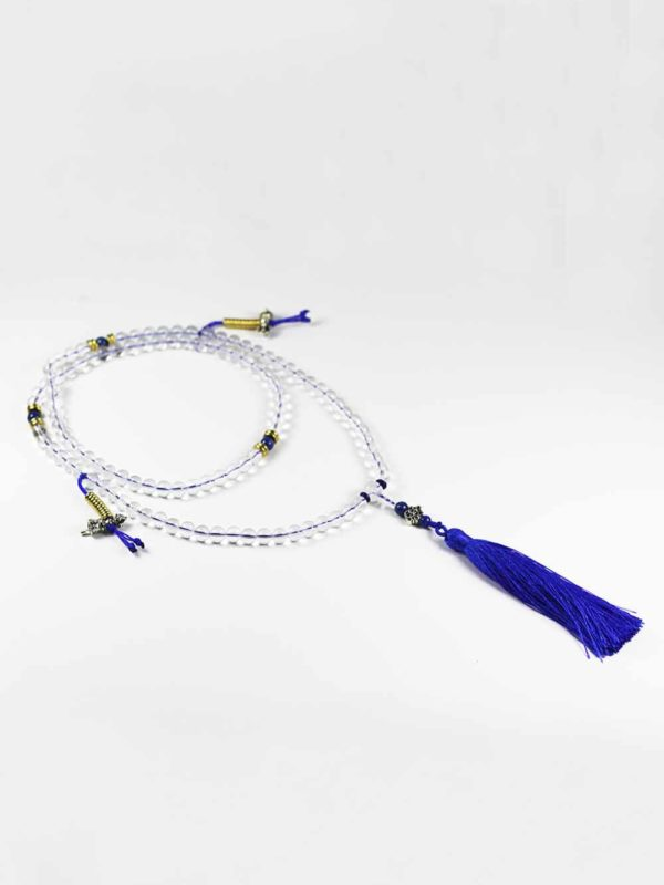 Clear Crystal Quartz Mala 108 Beads (8mm) with Counter 2