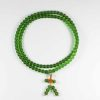 Colour-glazed Green Glass Mala 108 Beads 1