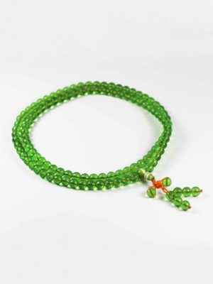 Colour-glazed Green Glass Mala 108 Beads 2