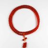 Colour-glazed Orange Glass Mala 108 Beads 1