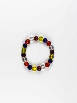 Colours of Buddha Flag Bracelet (10mm) 1