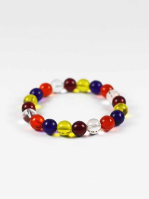 Colours of Buddha Flag Bracelet (10mm) 2