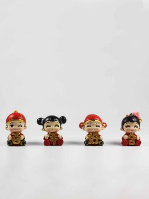 Mini Chinese Wedding Dolls (Bai Nian Hao He) 1